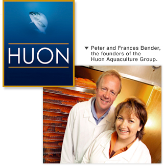 Peter and Frances Bender, the founders of the Huon Aquaculture Group.